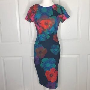 Felicity and coco navy floral point sheath dress